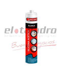 SILICONA ACETICA BLANCA CARTUCHO x280ml TACSA