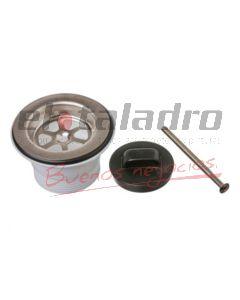 SOPAPA PVC C/REJA ACERO 40 MM LATYN