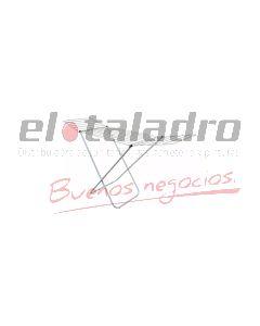 TENDEDERO BLANCO D/PIE C/ALAS (9 VARILLAS) FS.