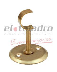 SOPORTE BARRAL DE CORTINA 1/2 MEDIANO 20mm ABIERTO BCDO