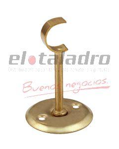 SOPORTE BARRAL DE CORTINA 1/2 LARGO 35mm ABIERTO BCDO
