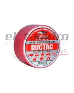 CINTA DUCTAC 48mm x 9mts ROJO