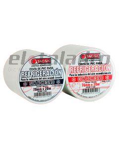 CINTA PVC P/REFRIGERACION S/ADHESIVO 70mm x 20 mt x 0.10 mm