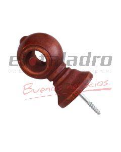 SOPORTE BARRAL CORTINA COLONIAL 14mm CERRADO
