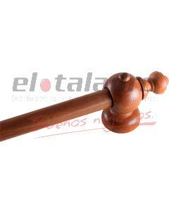KIT BARRAL LISO MADERA CEDRO 1,60Mts. S/ARGOLLAS