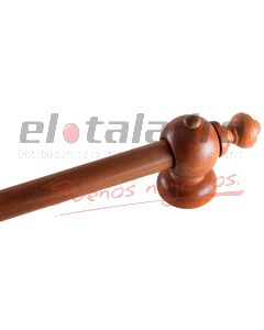 KIT BARRAL LISO MADERA CEDRO 1.40Mts. S/ARGOLLAS