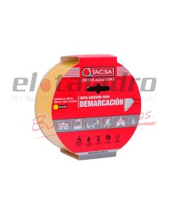 CINTA DEMARCATORIA AMARILLO 48mm x 15mts x 0.15 mm