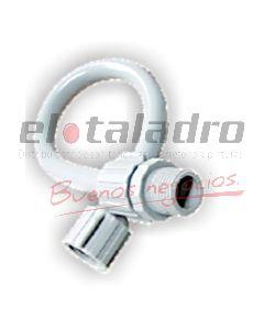 CONEXION FLEXIBLE BCO.PVC 1/2 x30cm M/GIRO