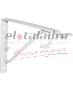 SOPORTE MENSULA LINEA ARTISTICA BLANCO 25cm C/COLGANTE