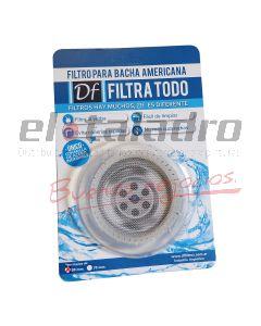 FILTRO P/BACHA AMERICANA TRANSPARENTE 90mm