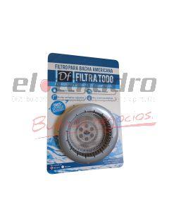 FILTRO P/BACHA AMERICANA PLATA 90mm