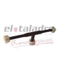 RAMAL PLASTICO LAVATORIO 1/2 X 3/8 C/TUERCAS