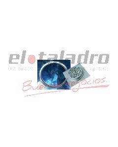REJILLA DE PISO 10 x 10 cm. CLICK CLACK ACERO MOZART