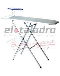 TABLA DE PLANCHAR ANCHA C/POSA ROPA Y PLANCHA