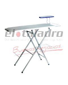 TABLA DE PLANCHAR ANCHA REGULABLE C/POSA ROPA Y PLANCHA