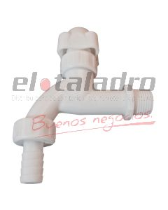 CANILLA 1/2  PVC P/M M/GIRO S/REP