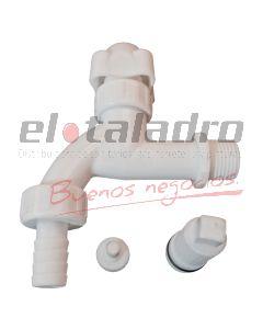 CANILLA 1/2  PVC P/M M/GIRO