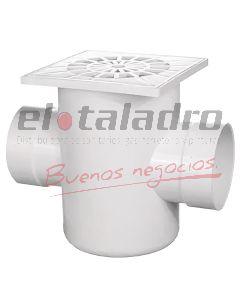 PILETA C/SIFON PVC 20x20 3,2 2 BOCAS