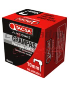 GRAMPA P/CABLE PLANA 5mm BCA x 100u