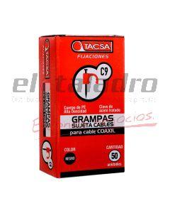 GRAMPA P/CABLE COAXIL 9 NEG x 50 un