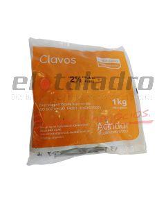 CLAVO P/PARIS 2 x 1kg ACINDAR