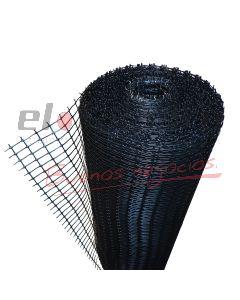 CERRAMIENTO PLASTICO RECTANGULAR 10x20mm x1Mt NEGRO (ROLLO x30mts)