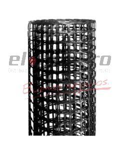 CERRAMIENTO PLASTICO 10x10mm x1,2Mt NEGRO (ROLLO x25mts)
