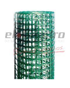 CERRAMIENTO PLASTICO 20x20mm x1.2Mt VERDE (ROLLO x25mts)