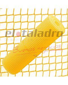 CERRAMIENTO PLASTICO 20x20mm x1,2Mt AMARILLO (ROLLO x25mts)