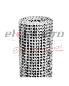 CERRAMIENTO PLASTICO 20x20mm x1,2Mt GRIS PLATA (ROLLO x25mts)