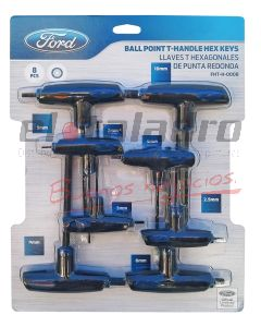 FORD LLAVES ALLEN T 8pzs mm