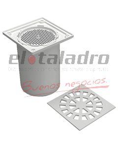 REJILLA DE PISO 12x12 C/FILTRO Y MARCO PROLONG.