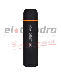 TERMO ACERO INOXIDABLE BLACK x 1 lt.