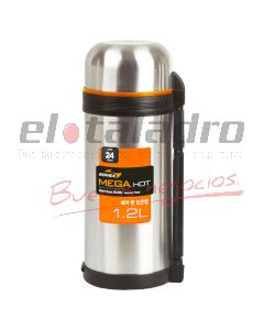 TERMO ACERO INOXIDABLE MEGA HOT MANIJA x 1,2 lt.