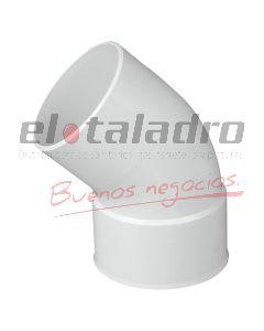 CURVA PVC 50 A 45  3,2 MH