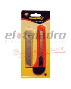 CUTTER ECO+10 HOJAS REP.BLISTER
