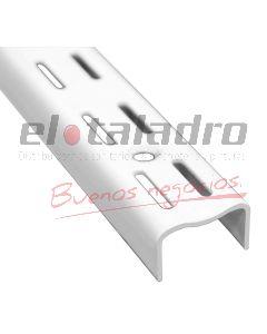 RIEL DOBLE BLANCO EPOXI P/ESTANTE 0,50Mt (2)