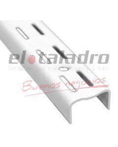 RIEL DOBLE BLANCO EPOXI P/ESTANTE 1,50Mt (2)