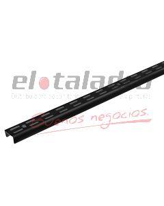 RIEL DOBLE NEGRO EPOXI P/ESTANTE 2,00Mt (2)
