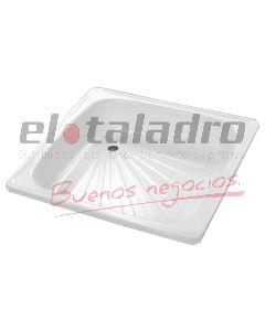 PLATO DUCHA ACERO ESMALTADO 80x80x15cm  -PR-