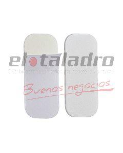 TOPE AUTOADHESIVO RECTANGULAR BLANCO (BLISTER X 12)