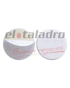 TOPE AUTOADHESIVO REDONDO BLANCO BLISTER x12 Pares