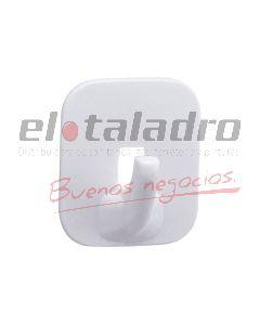 PERCHA AUTOADHESIVA CUADRADA BLANCA (BLISTERx16)