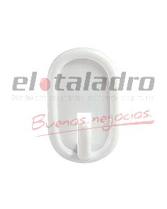 PERCHA AUTOADHESIVA OVALADA BLANCA (BLISTERx16)