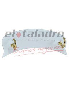 PERCHA AUTOADHESIVA C/2 PITONES (BLISTERx1)