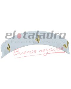 PERCHA AUTOADHESIVA C/3 PITONES (BLISTERx1)