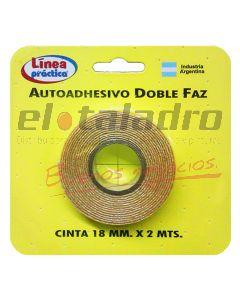 CINTA DOBLE FAZ 18mm -ROLLO 2Mts