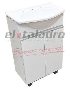 VANITORY ATLANTIC BLANCO C/ALUM 600mm